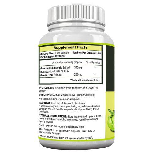 MuscleXP Capsules - Garcinia Green Tea, Lean Vital, Veg, 60 pcs
