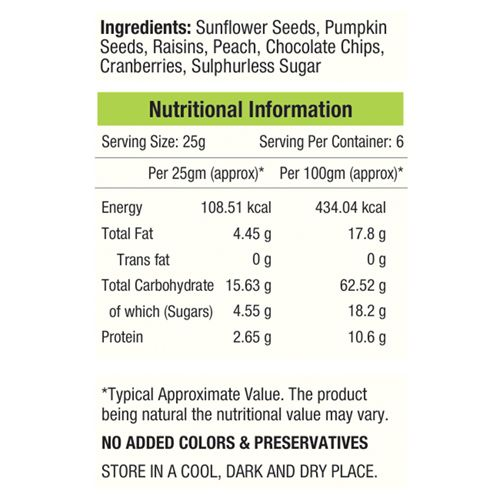 Nourishvitals Mix - Seed & Fruit, Crispy Seeds Galore, 150 gm