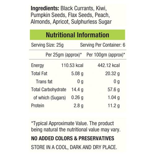 Nourishvitals Mix - Seed & Fruit, Scrummy Black Currant, 150 gm