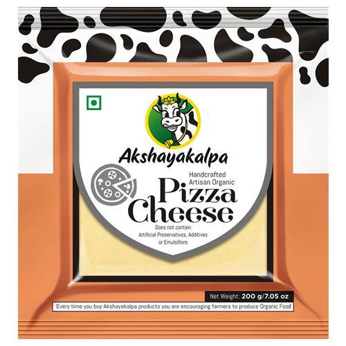 Akshayakalpa Cheese - Organic, Mozzarella/ Pizza Cheese, 200 gm