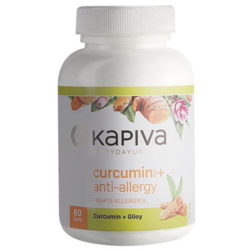 Kapiva Ayurveda Capsules - Curcumin & Giloy, 60 Capsules
