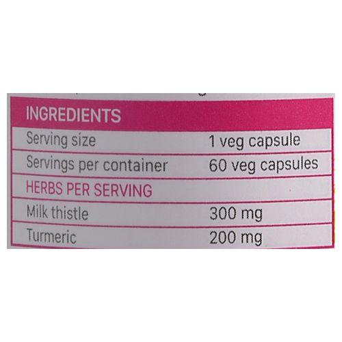 Kapiva Ayurveda Capsules - Milk Thistle & Turmeric, 60 Capsules