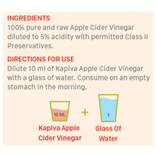 Kapiva Ayurveda Vinegar - Apple Cider, 500 ml