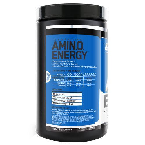 Optimum Nutrition Drink - Amino Energy, Blue Raspberry, 30 Servings, 270 gm Tub