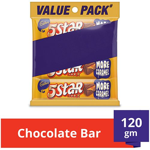 Cadbury 5 Star Chocolate Bar, Multi Pack, 120 gm