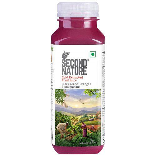 Second Nature Juice - Black Grape + Orange + Pomegranate, 250 ml