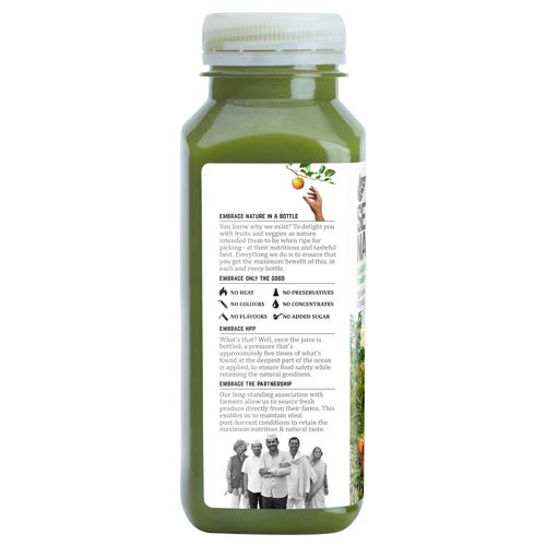 Second Nature Juice - Spinach + Celery + Orange + Ginger, 250 ml