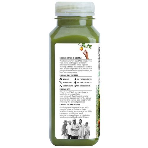 Second Nature Juice - Spinach + Celery + Orange + Ginger, 250 ml