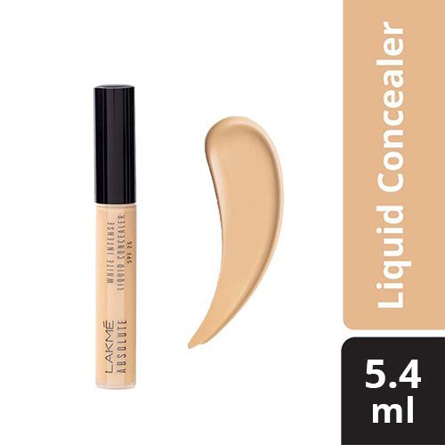 Lakme Liquid Concealer - Absolute White, Intense , Golden Medium, 5.4 ml