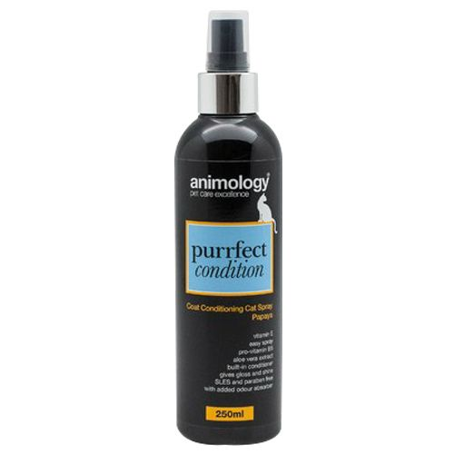 Animology Pet Care - Purrfect Condition, Coat Conditioning, Cat Spray, Papaya, 250 ml