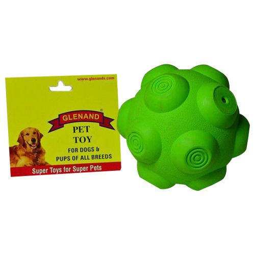 Glenand Pet Toy - Rubber, Bouncy, Squeaky Ball, 3.0 GI020, 1 Pc