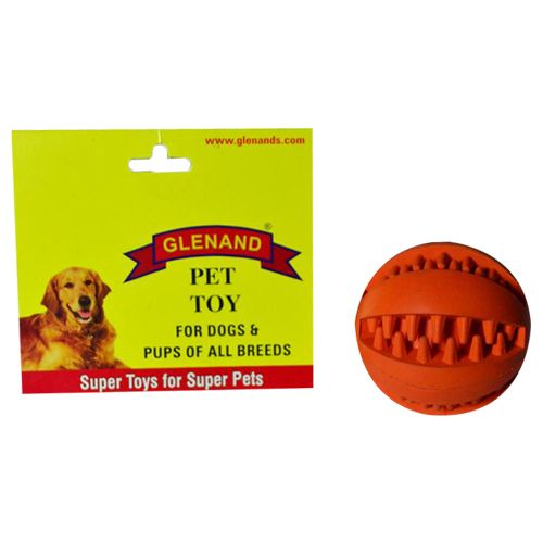 Glenand Pet Toy - Rubber, Dental Chew Ball, 2.375 GI010, 1 Pc