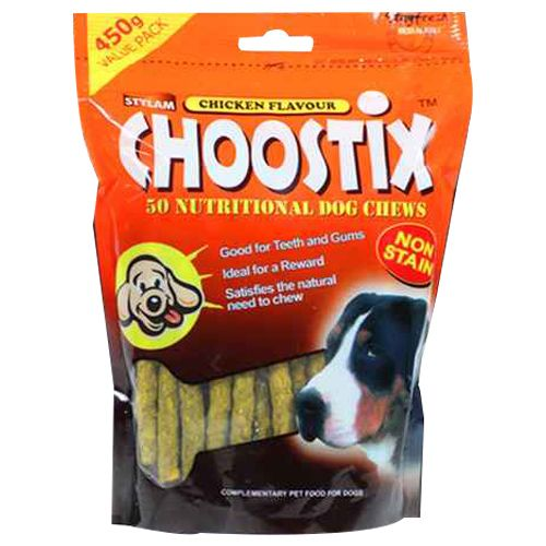 Stylam Pet Food - Choostix, Chicken Flavour, 450 gm