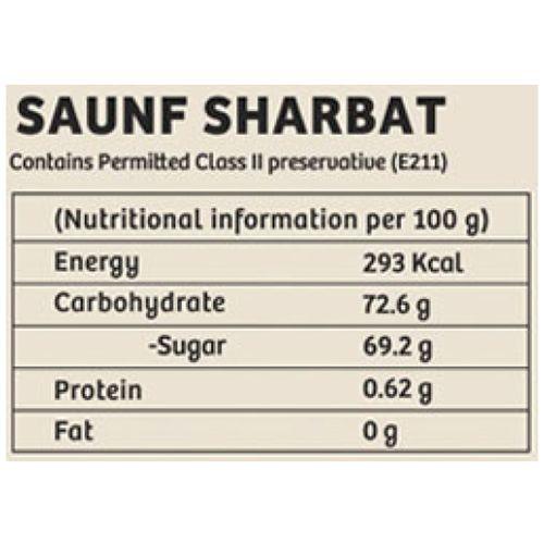 Gulabs Sharbat - Saunf, Syrup, 500 ml