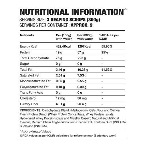 IN2 Mass Gainer - Strawberry, 2.7 kg