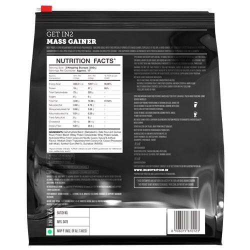 IN2 Mass Gainer - Chocolate, 5 kg