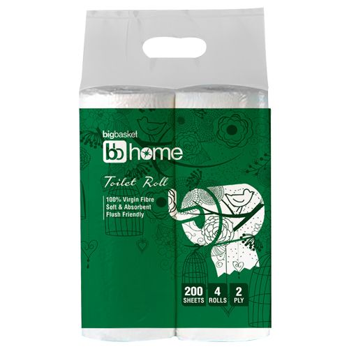 BB Home Toilet Roll - 2 Ply, 200 pulls Pack of 4