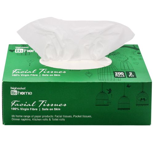BB Home Facial Tissues - 2 Ply, 200 Pulls