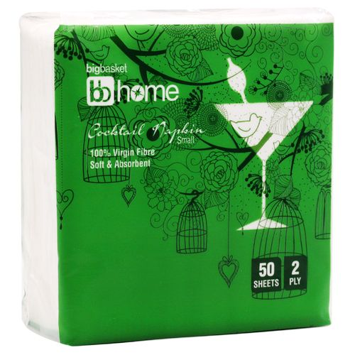 BB Home Cocktail Napkin - 2 Ply, 50 Pulls
