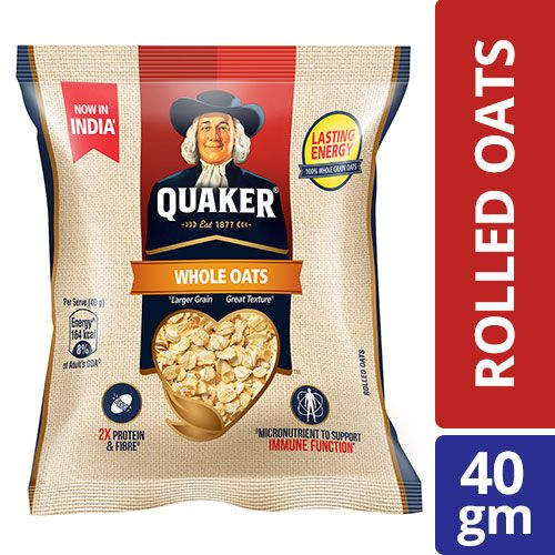Quaker Oats - Whole, 40 gm
