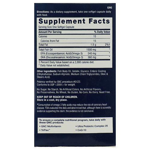 Buy GNC Dietary Supplement - Fish Oil 041c3d13d00