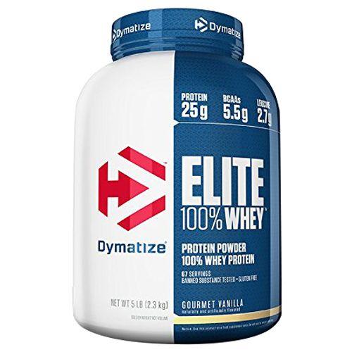 Dymatize Whey Protein - 100%, Gourmet Vanilla, Elite, 5 lbs