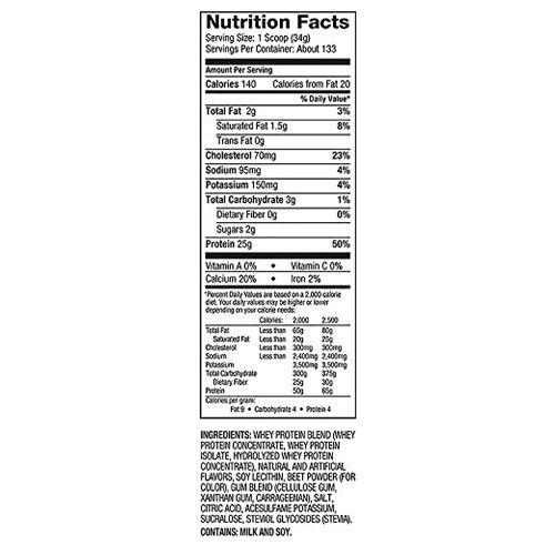 Dymatize Whey Protein - 100%, Strawberry, Elite, 10 lbs