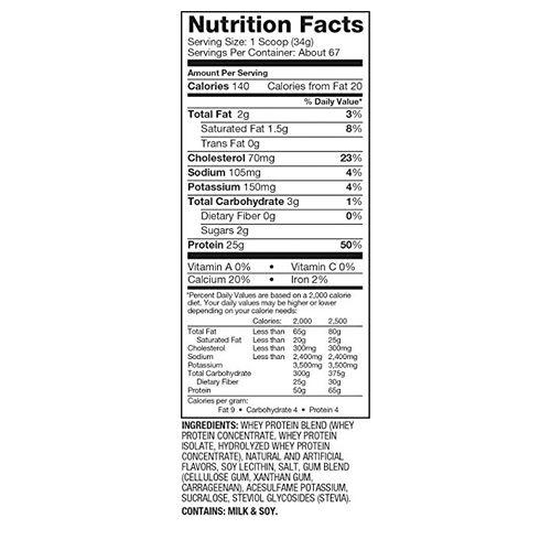 Dymatize Whey Protein - 100%, Vanilla Cupcake, Elite, 5 lbs