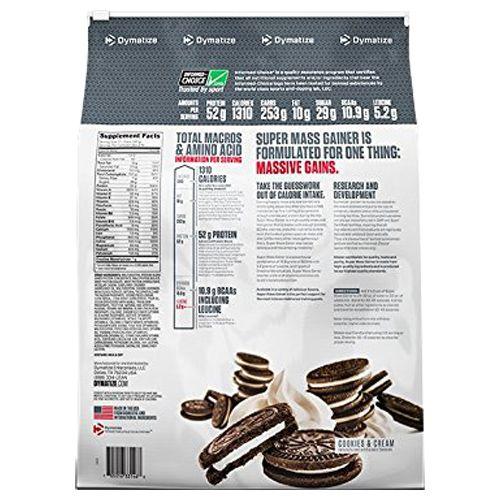 Dymatize Super Mass Gainer - Cookies & Cream, 12 lbs