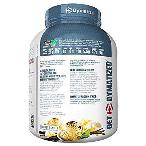 Dymatize Protein - ISO-100, Gourmet Vanilla, 5 lbs
