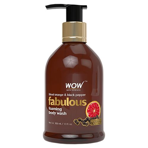 Wow Skin Science Blood Orange & Black Pepper Foaming Body Wash, 300 ml