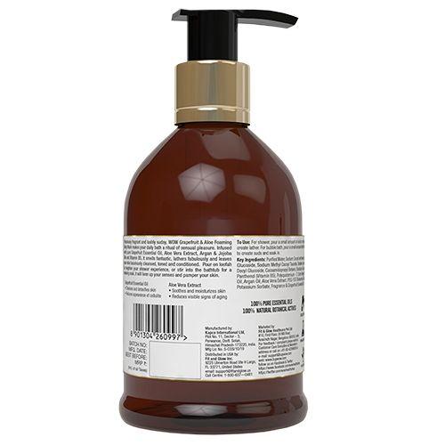 Wow Skin Science Grapefruit & Aloe Foaming Body Wash, 300 ml