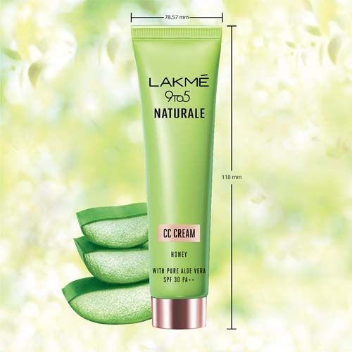 Lakme Cream - CC, 9 to 5 Naturale, Honey, SPF 30 PF++, 30 gm