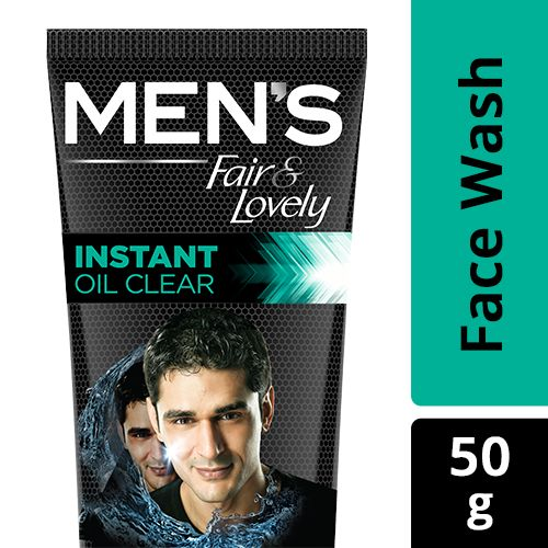 Fair & Lovely  Face wash - Instant Oil Clear, Mens, Magnet Action, 50 gm