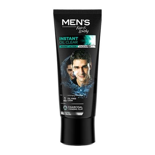 Fair & Lovely  Face wash - Instant Oil Clear, Mens, Magnet Action, 100 gm