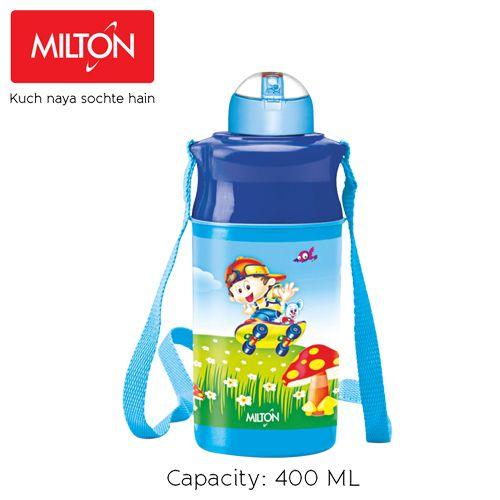 Milton Water Bottle - Thermosteel, Insulated, Blue, Kool Spark, 400 ml