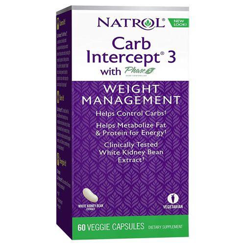 Natrol Capsules - Carb Intercept 3, 60 pcs