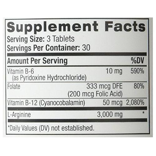 Natrol Tablets - L-Arginine, 3000 mg, 90 pcs