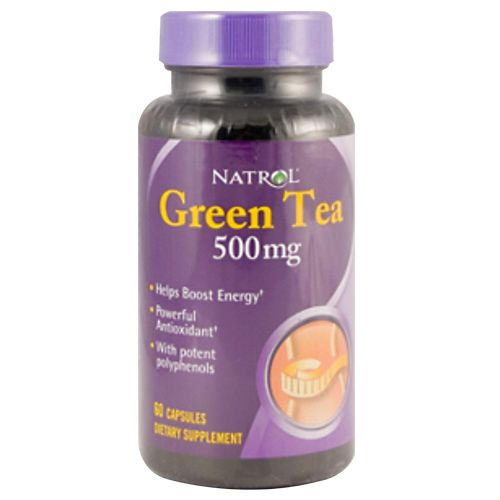 Natrol Capsules - Green Tea, 500 mg, 60 pcs
