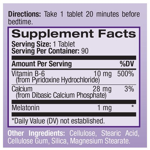 Natrol Tablets - Melatonin, 3 mg, 60 pcs
