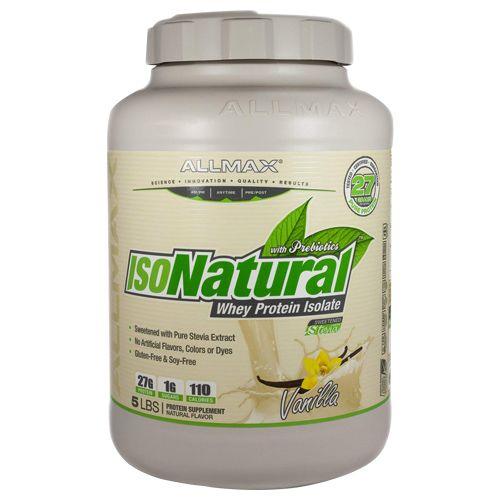 Allmax Nutrition Whey Protein - Isonatural, Vanilla, 5 lb