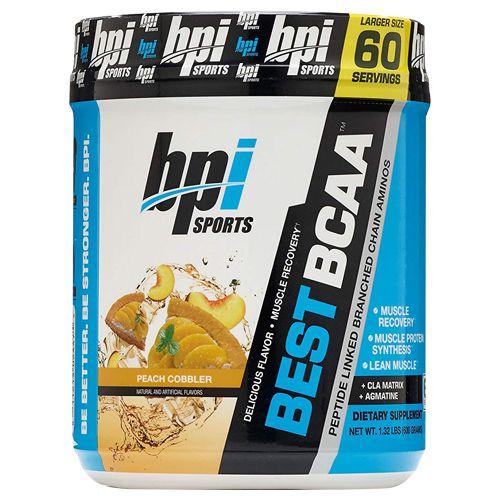 BPI Sports BCAA Powder - Peach Cobbler, Sports Best, 60 Servings
