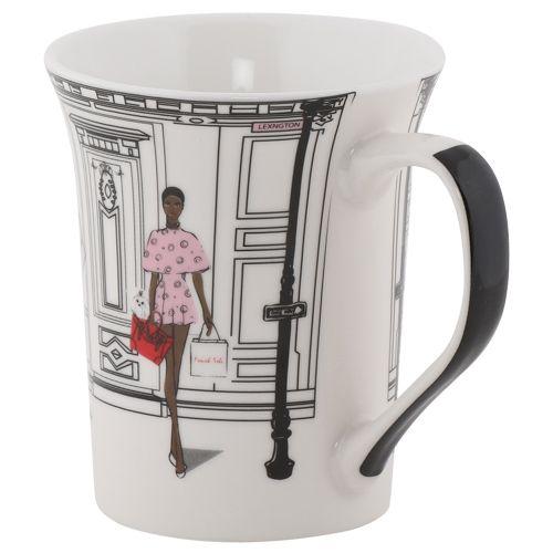 Rslee Coffee-Tea-Milk Mug - Modish Print, 350 ml