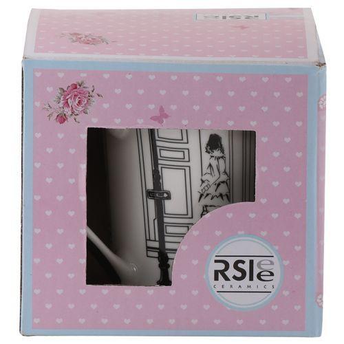 Rslee Coffee-Tea-Milk Mug - Women with Bag, Pink, 350 ml