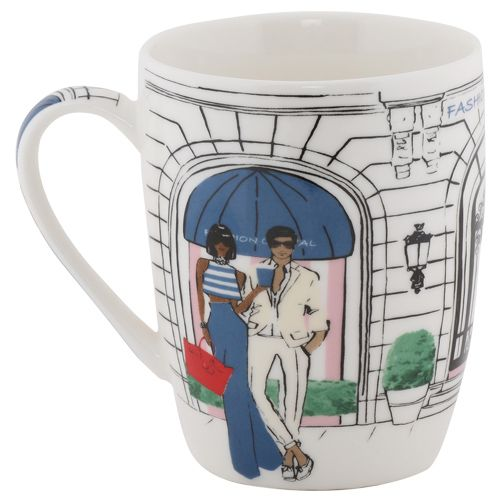 Rslee Coffee-Tea-Milk Mug - Man & Woman Print, 275 ml