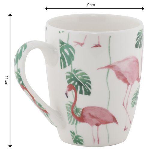 Rslee Coffee-Tea-Milk Mug - Flamingo Print, 275 ml