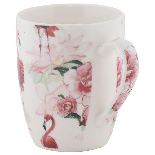 Rslee Coffee-Tea-Milk Mug - Flamingo & Floral Print, 275 ml