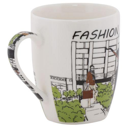 Rslee Coffee-Tea-Milk Mug - Fashion Print, 275 ml