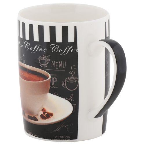 Rslee Coffee-Tea-Milk Mug - Coffee Mug & Plate Print, 350 ml