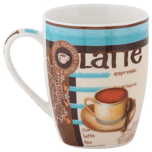 Rslee Coffee-Tea-Milk Mug - Latte Espresso Print, 275 ml